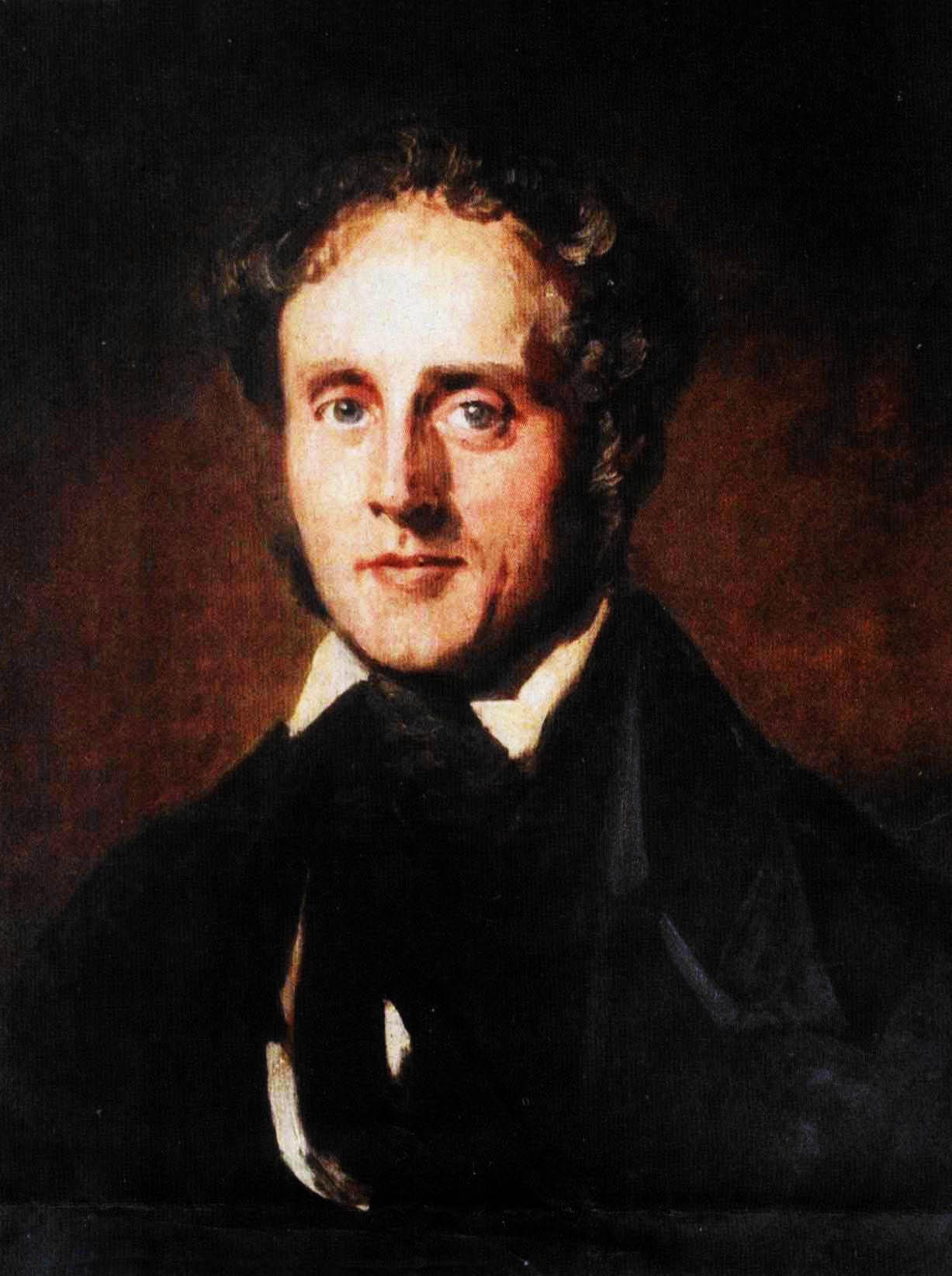 Henry John Temple, de derde Viscount Palmerston (1784-1865); details van een schilderij toegeschreven aan hofschilder Franz Xaver Winterhalter [Publiek domein].