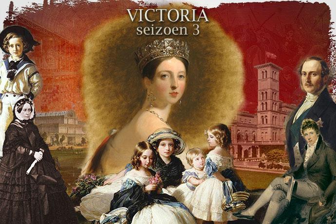 Collage bij seizoen drie van de serie Victoria, 2019, door My inner Victorian.