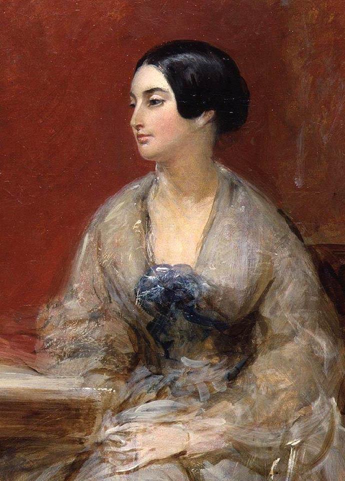 Caroline Norton door Frank Stone in 1845