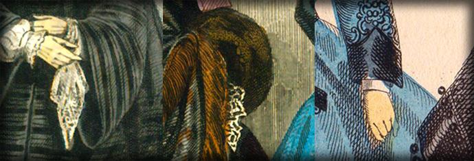 Victoriaanse mode mouwen uit 1851 1854 1864