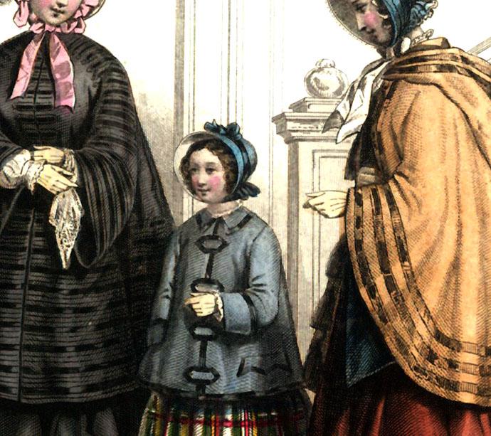 Modeprent Aglaja 1851.