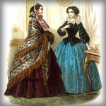 Victoriaanse herfstmode uit 1850-1860