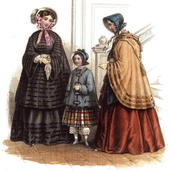 Modeplaat uit Aglaja, oktober 1851.