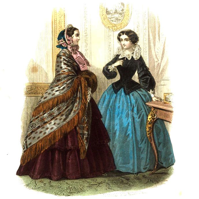 Modeplaat uit Aglaja, oktober 1854:.
