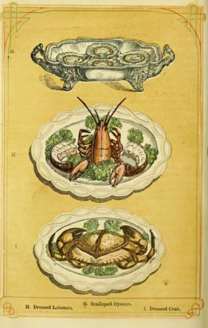 Zeevruchten in Mrs. Beeton's Book of Household Management 1861