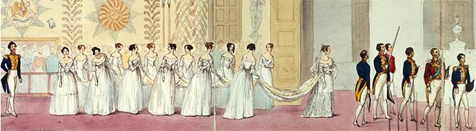 koningin Victoria met haar bruidsmeisjes