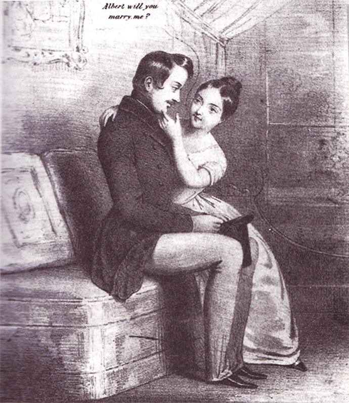 huwelijksaanzoek Victoria en Albert