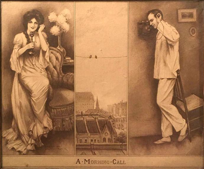 vroege telefoon rond 1900