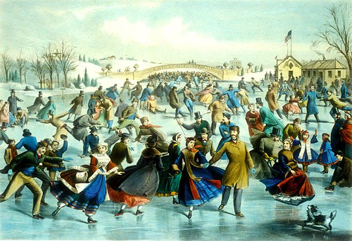 schaatsen rond 1860