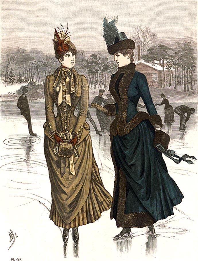 schaatsmode 19e eeuw