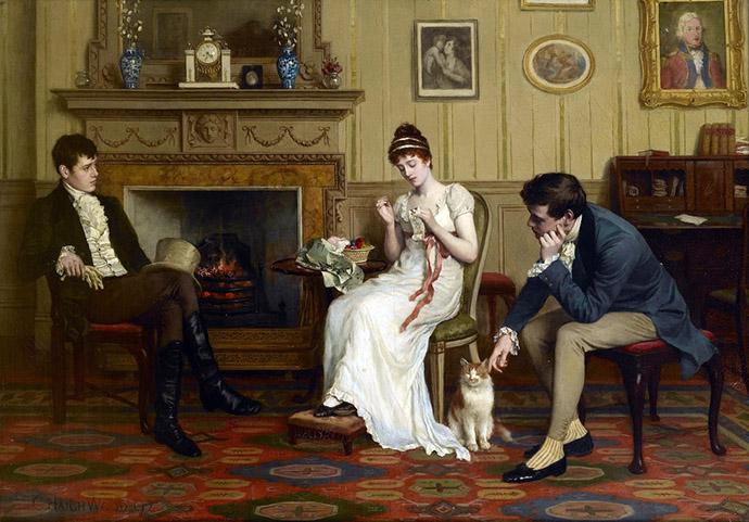 mannen op visite victoriaans