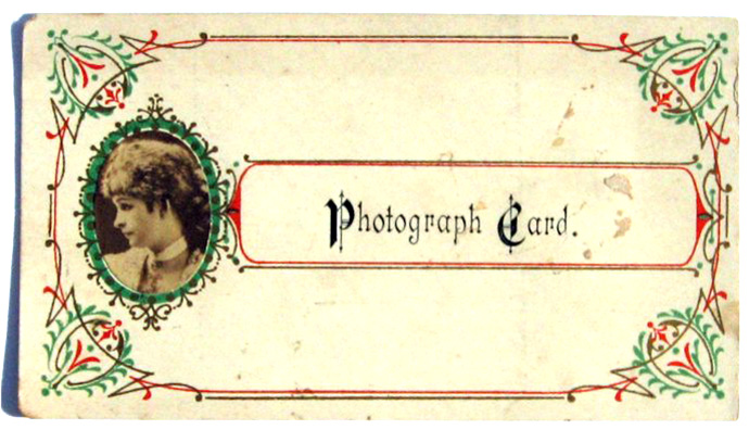visitekaartje rond 1900