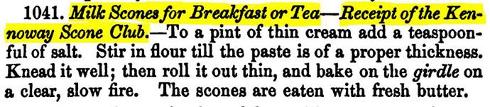 Victoriaans recept voor scones