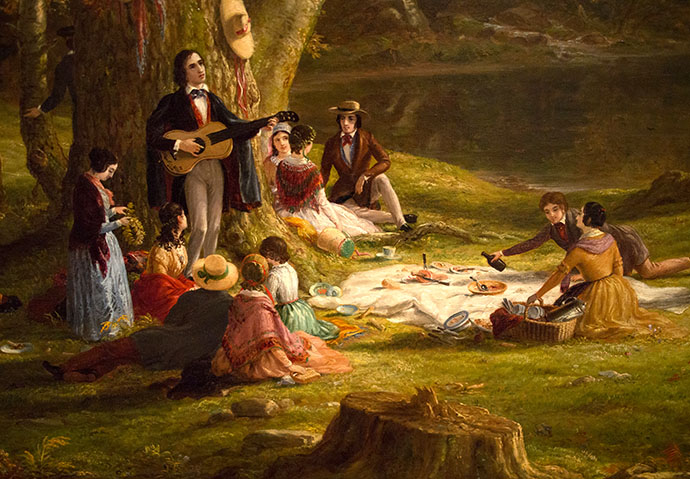 De Picknick Party door Thomas Cole