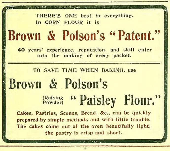 Edwardiaanse reclame voor zelfrijzend bakmeel