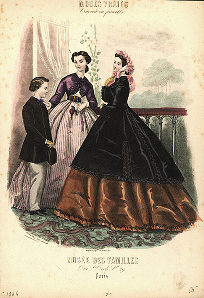 Victoriaanse mode 1864
