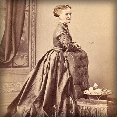Victoriaanse foto vrouw 1866