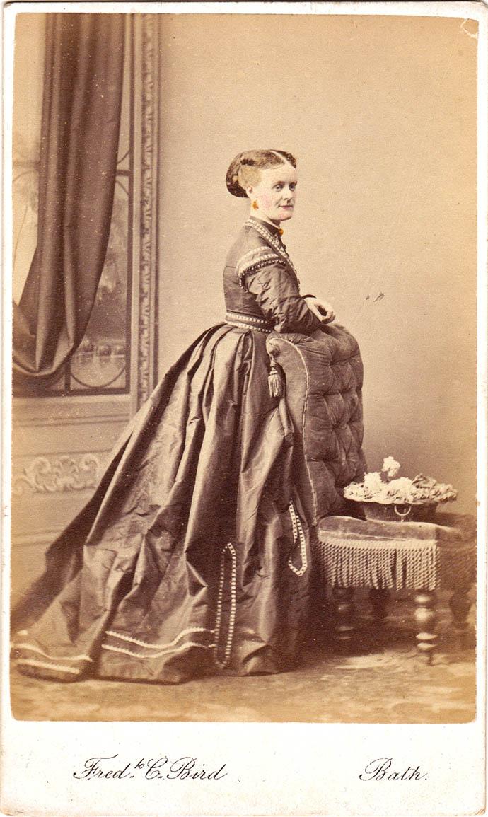 Foto van een Victoriaanse vrouw