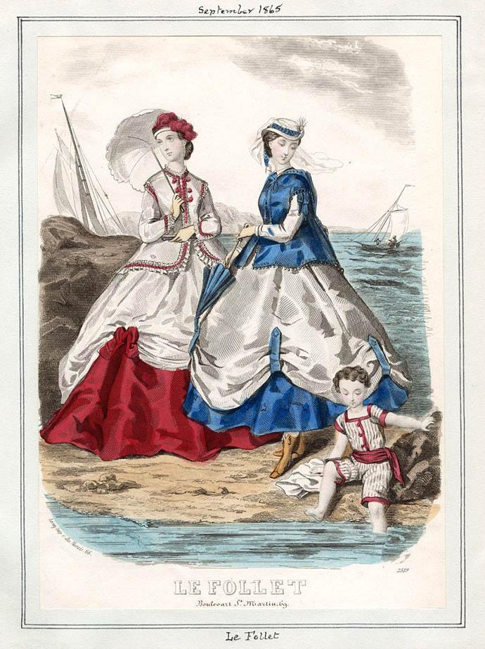 Victoriaanse mode uit 1865