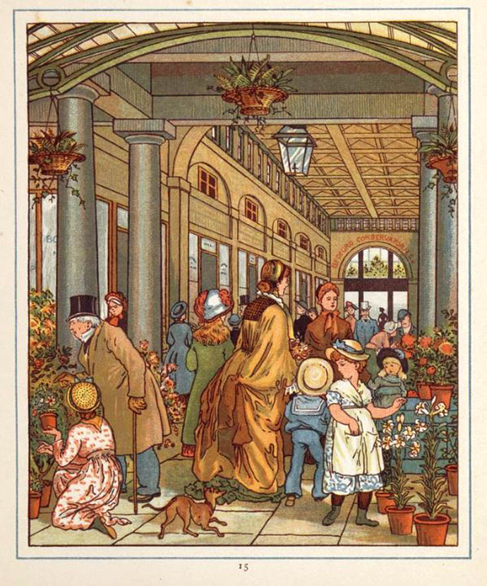Covent Garden Flowers and Fruit Market 1883