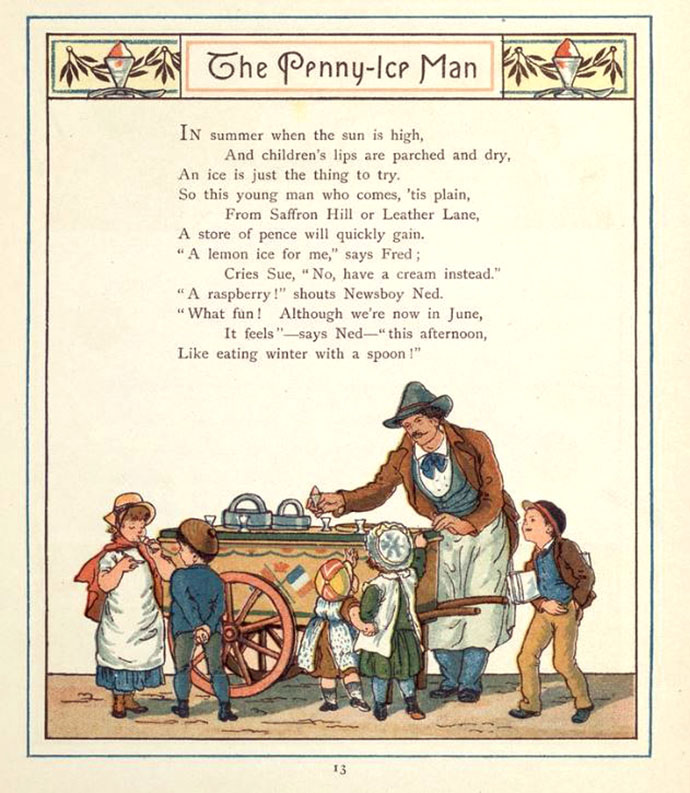 Penny Ice Man Londen 1883