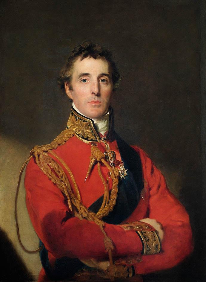 Portret van Arthur Wellesley, 1st hertog van Wellington, na zijn overwinning bij Waterloo in 1815, door Thomas Lawrence [Publiek domein].
