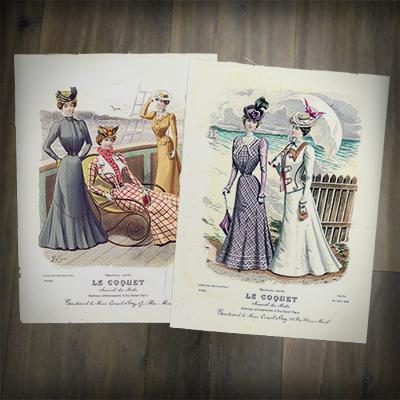 Twee modeplaten uit 1898.