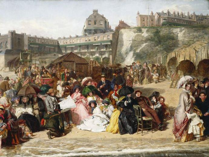 ramsgate sands Victoriaans strand 1850