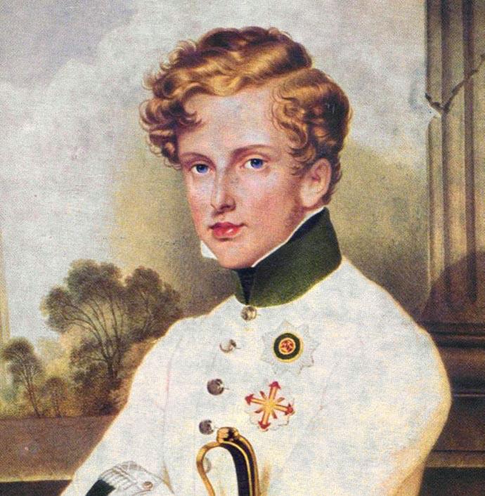 Napoléon François Joseph Charles Bonaparte, de zoon van Keizer Napoleon. Schilderij door Moritz Daffinger. [Publiek domein].