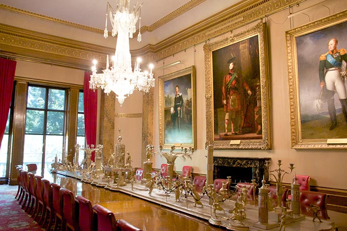 De State Dining Room in Apsley House. © English Heritage Photo Library.