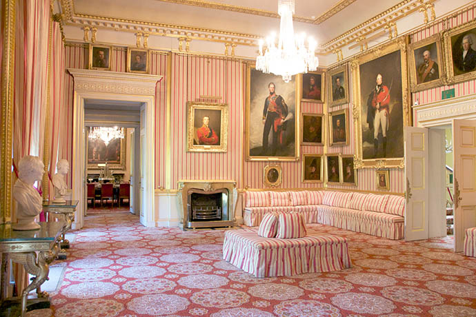 De Striped Drawing Room in Apsley House. © English Heritage Photo Library.