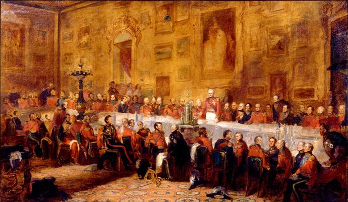 The Waterloo Banquet, 1836, door de kunstenaar William Salter (1804-1875) [Publiek domein].