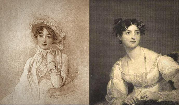 Links: Catherine 'Kitty' Wellesley (geboren Pakenham), de eerste Hertogin van Wellington (1773-1831) door Thomas Lawrence [Publiek domein]. Rechts: Harriet Arbuthnot (Fane) (1793-1834) door W.J. Susom [Publiek domein].