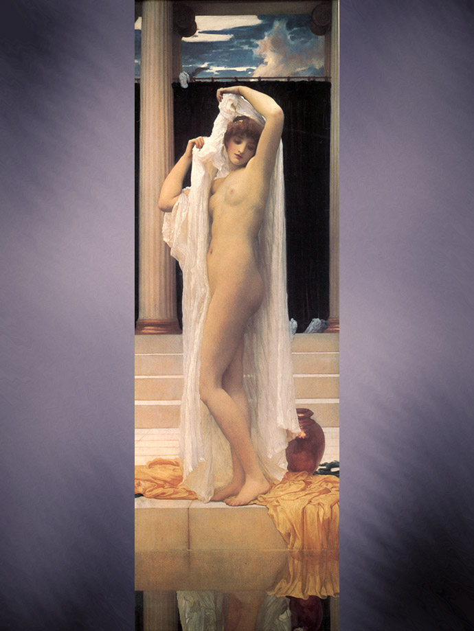 The Bath of Psyche door Frederic Leighton 1890