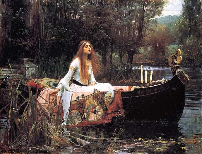 The Lady of Shalott door John William Waterhouse 1888