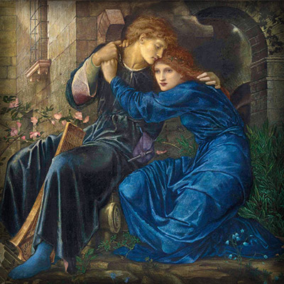 'Love Among The Ruins' door Edward Burne-Jones (1873) [Publiek domein].