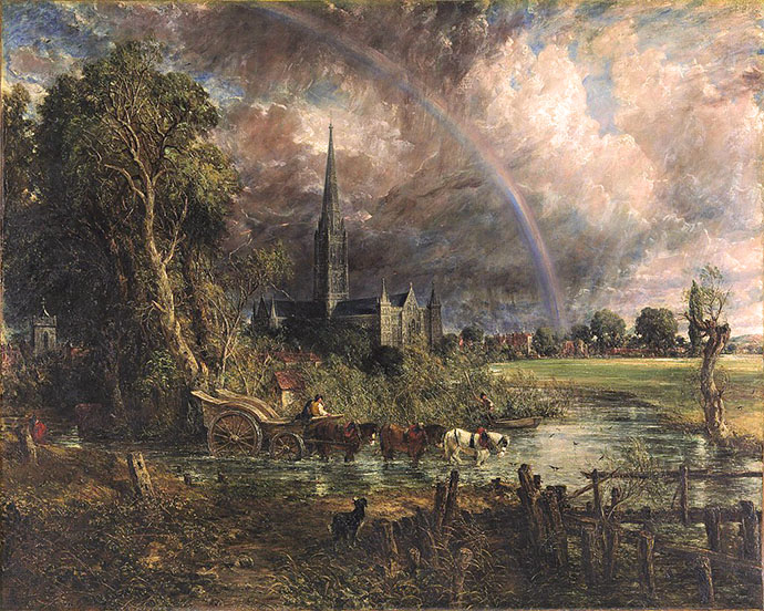 john constable - salisbury meadows