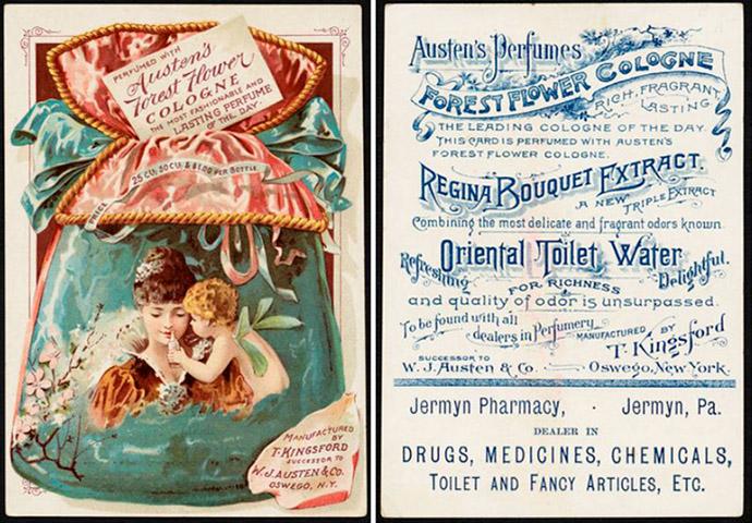 Victoriaanse parfumreclame Amerikaans 1800s