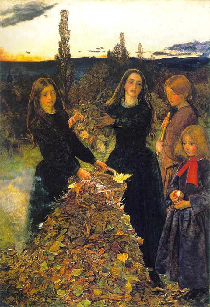 Autumn Leaves (1856) door John Everett Millais [Publiek domein].