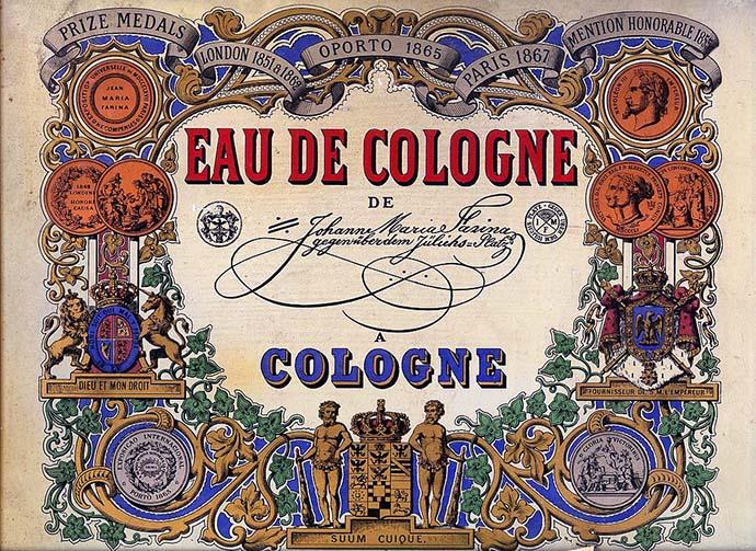 Farina 1709 eau de cologne in de 19e eeuw