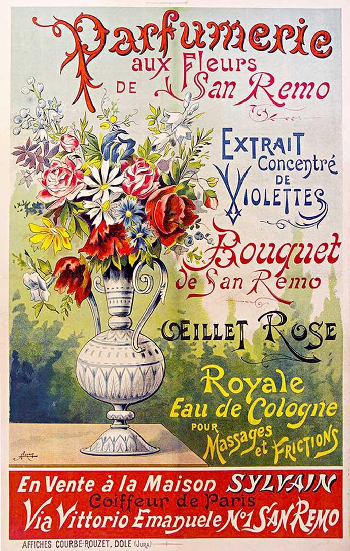 Victoriaanse parfums reclame