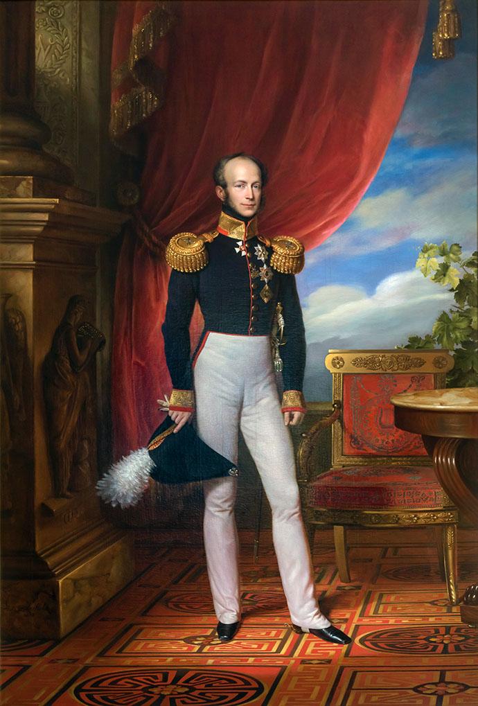 Willem, Prins van Oranje-Nassau, door Jan Baptist van der Hulst in 1833.