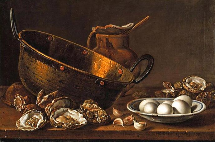 Stilleven met mengkom (1772) door de Spanjaard Luis Egidio Meléndez [Publiek domein].