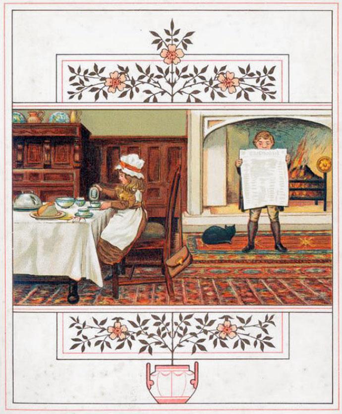 Victoriaans ontbijt 1881