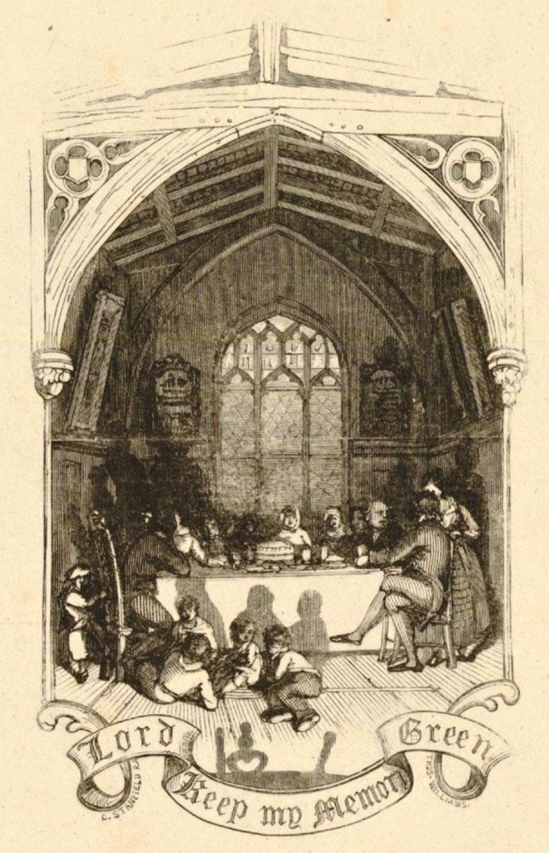 """""""Lord, Keep My Memory Green."""" Illustratie door Clarkson Stanfield (1848). Bron: British Museum [Publiek domein]."""