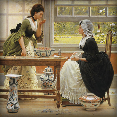 Pot pourri door George Dunlop Leslie (1835-1921) [Publiek domein].