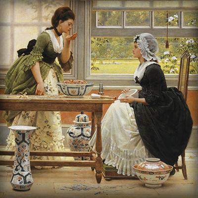 Pot pourri door George Dunlop Leslie (1835-1921) [Publiek domein].