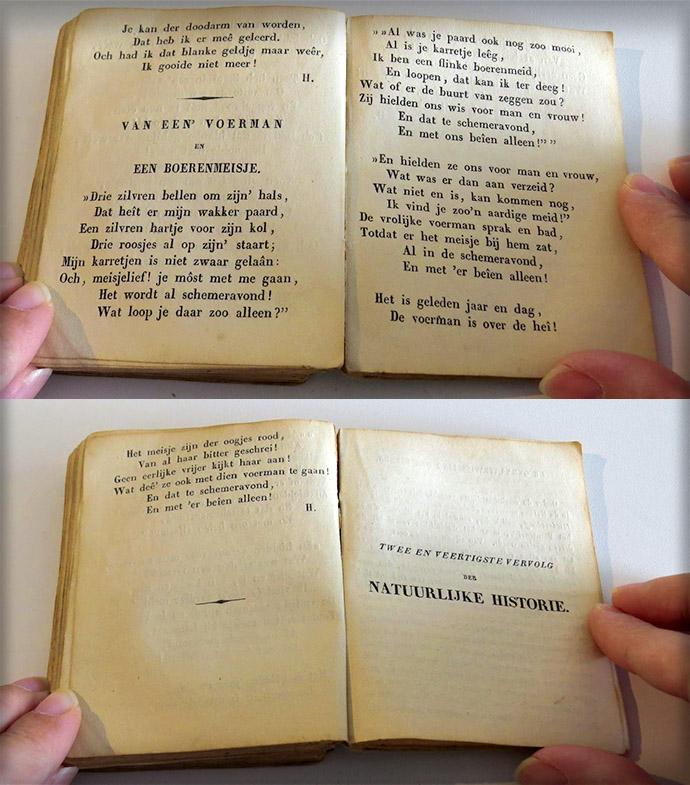 Waarschuwing voor boerenmeidenuit de Enkhuizer Almanak van 1845.