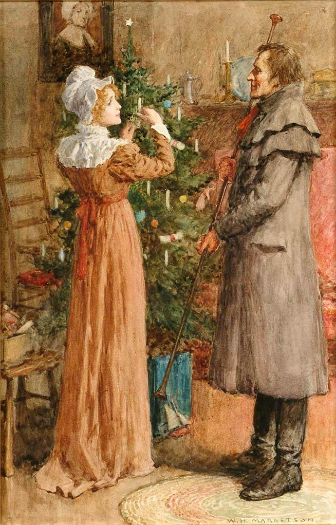 Victoriaanse kerstkaart
