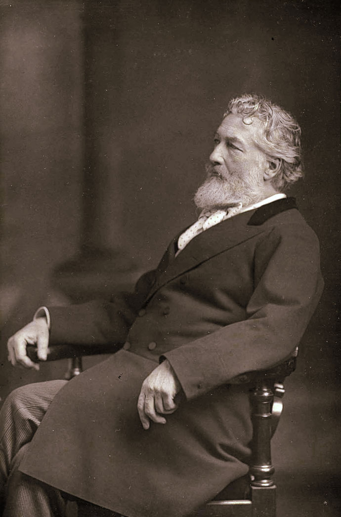 Foto van een oudere Leighton, door de gerenomeerde fotostudio van de broers Willliam en Daniel Downey [Publiek domein].